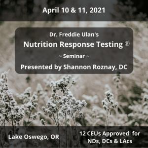 nutrition response testing spi